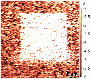 Current Map of a Resistive Switching film